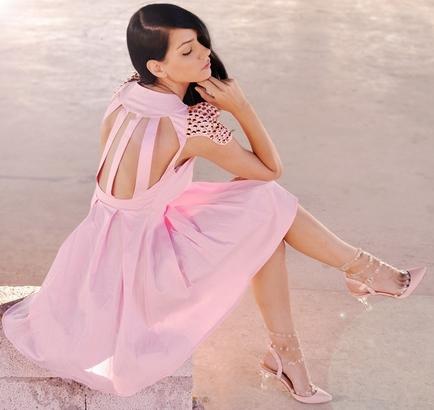 En Güzel Pembe Elbise Modelleri 2016