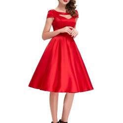 En Güzel Yazlık Kırmızı Elbise Modelleri 2016