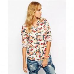 En Tarz Çiçek Desenli Bayan Gömlek Modelleri 2016