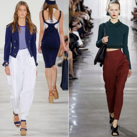 En Trend Yüksek Bel Kumaş Pantolon Kombinleri