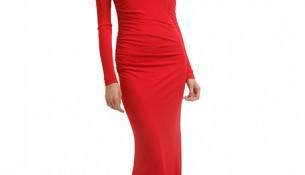 Kırmızı Renkli Oldukça Hoş Vakko Elbise Modelleri 2016