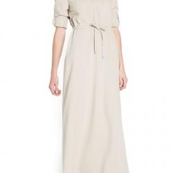 Kuşak Detaylı Uzun Kollu Elbise Modelleri