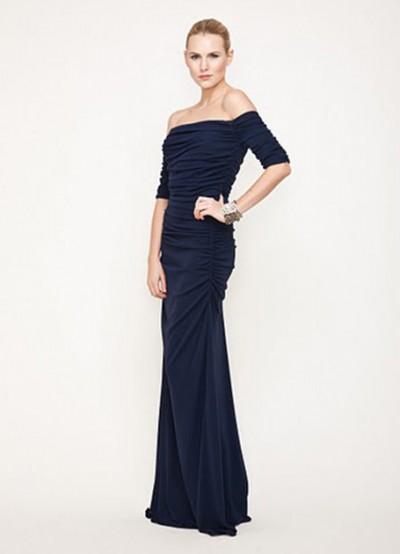 Omuz Dekolteli Vakko Elbise Modelleri 2016