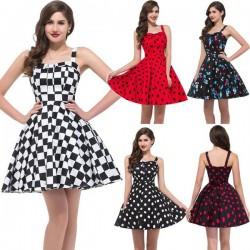 Puantiye Detaylı 2016 Vintage Elbise Modelleri