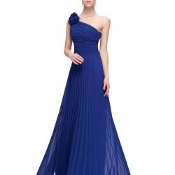Saks Mavisi Çok Şık Askılı Abiye Modelleri 2016