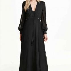 Siyah Renkli Uzun Kollu Elbise Modelleri