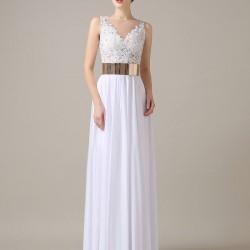 En Zarif Beyaz Renkli 25 Yaş Abiye Modelleri 2016