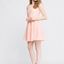 Güpür İşlemeli LCW Yazlık Genç Elbise Modelleri 2016