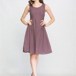 Puantiyeli Çok Zarif LCW Yazlık Genç Elbise Modelleri 2016