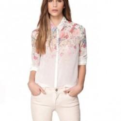Çiçekli Bayan Klasik Gömlek Modelleri 2016