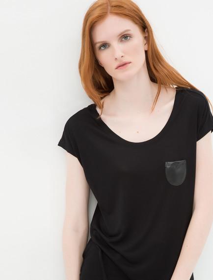 Önden Cep Detaylı Oldukça Şık Koton Tişört Modeli 2016