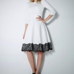 İşleme Detaylı Midi Kloş Elbise Modelleri