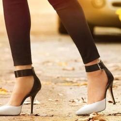 İki renk Stiletto ayakkabı modelleri