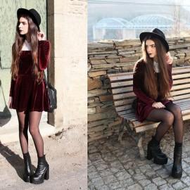 18 Yaş Kadife Mini Bayan Elbise Modelleri 2016