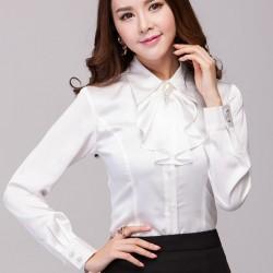Beyaz Fiyonklu Gömlek Modelleri