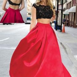 Bu Tasarımlarla Göz Önünde Olabilirsiniz Kırmızı Siyah Elbise Kombinleri