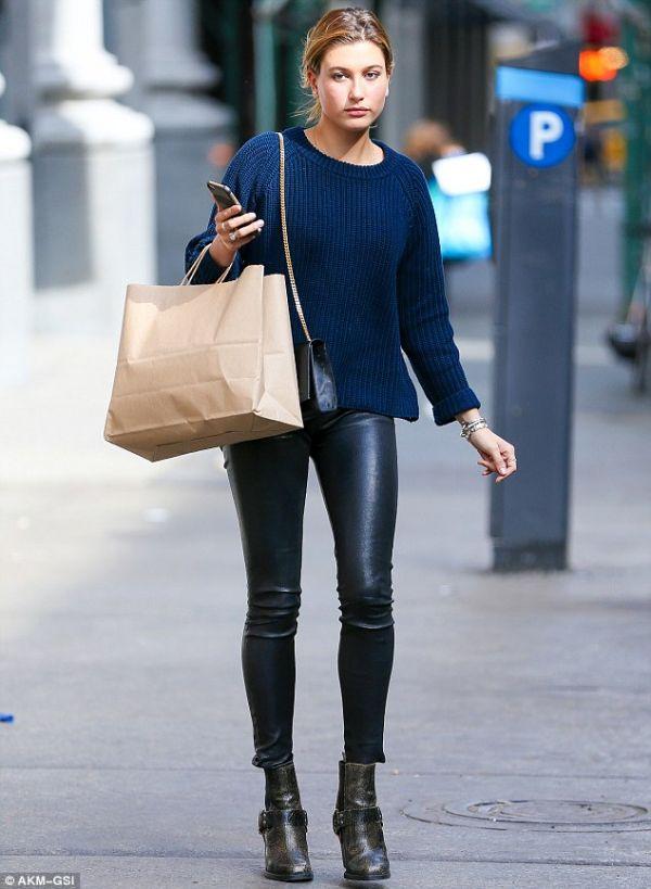 Deri Tayt Pantolon Modelleri 2016