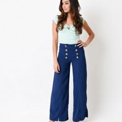 En Şık Dökümlü Pantolon Modelleri