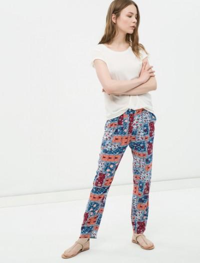 En Şık Desenli Koton Pantolon Modelleri 2016