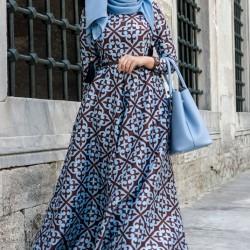En Şık Etnik Desenli Elbiseler