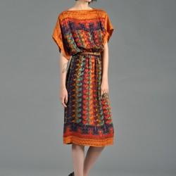 En Tarz Etnik Desenli Elbiseler