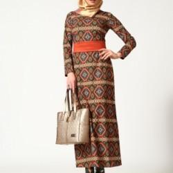 Etnik Desenli Kapalı Elbise Tasarımları