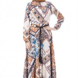 Etnik Desenli Tesettür Giyim Modası