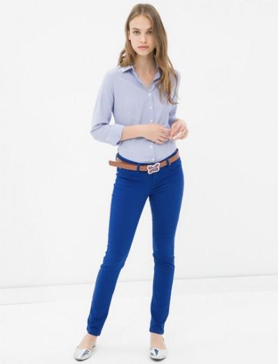 Saks Mavisi Koton Pantolon Modelleri 2016