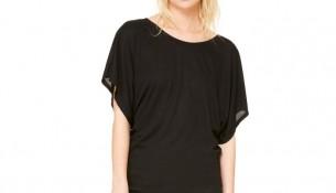 Siyah Dökümlü Bluz Modelleri