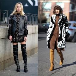 Sokak Modası Çizme Modası 2017