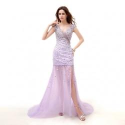 Tül Detaylı Balo Elbisesi Modelleri