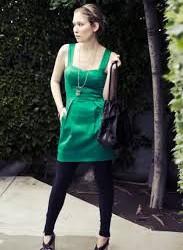 Zümrüt Yeşili Mini Elbise Tayt Kombini