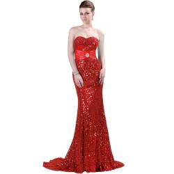 Kırmızı Çok Şık Işıltılı Abiye Modelleri