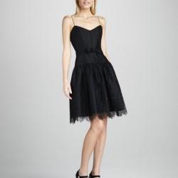 İnce Askılı Çok Hoş Siyah Dantelli Elbise Modelleri