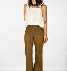 En Tarz Yüksek Bel Bol Paça Pantolon Modelleri
