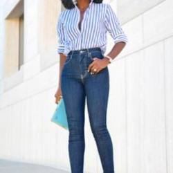 En Uyumlu Yüksek Bel Pantolon Kombinleri