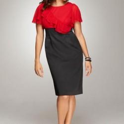 Kırmızı Siyah Orta Yaş Bayan Elbise Kombin Önerileri