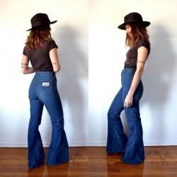 Yüksek Bel İspanyol Bol Paça Kot Pantolon Kombin Örnekleri
