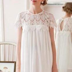 Yaz Aylarında Vazgeçilmez En Güzel Beyaz Dantelli Elbise Modeli
