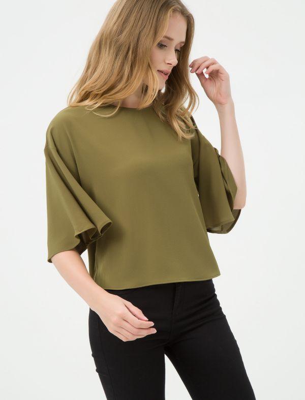 En Güzel Zeytin Yeşili Koton Yeni Bluz Modeli