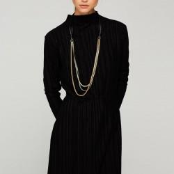 Uzun Kollu Çok Şık İpekyol Elbise Modelleri