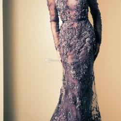 En Güzel ve En Zarif Uzun Kollu Abiye Modeli
