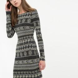 Uzun Kollu Yeni Sezon Koton Elbise Modeli