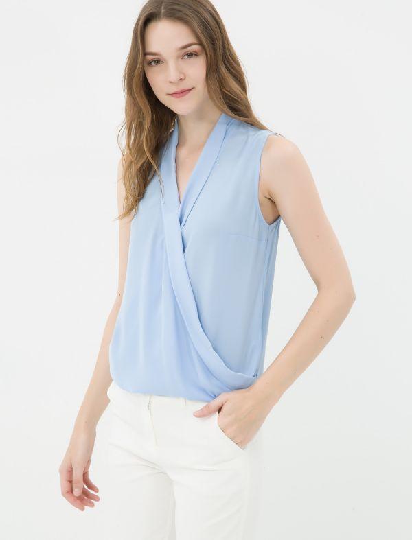 Bebe Mavisi Çok Kibar Koton Marka Bluz Modeli