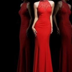 En Şık ve En Zarif Uzun Kırmızı Abiye Modeli