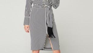 Çizgi Detaylı Çok Kibar İpekyol 2016 -2017 Elbise Modelleri