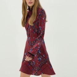 Desenli Çok Şık Yeni Sezon Koton Elbise Modeli
