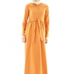 Kiremit Renginde Çok Şık Yeni Sezon Armine Elbise Modeli