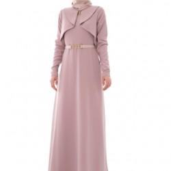 Pudra Renginde Çok Zarif Armine Elbise Modelleri
