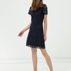 Siyah Dantelli Yeni Sezon Koton Elbise Modeli